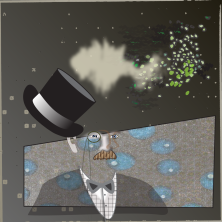 The show was out of this world and Mr. Shruggs was glad to be wearing a tophat.