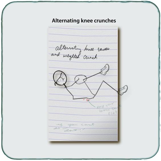 Alternating Knee Crunch