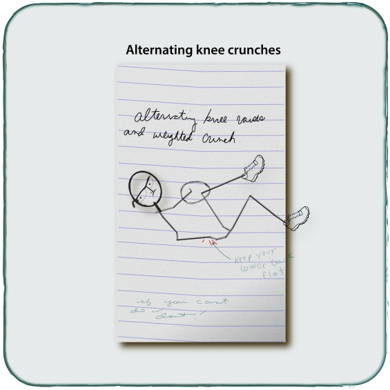 Alternating Knee Crunch